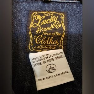 Lucy Jackets & Coats - Lucky Brand Girls Patchwork Denim Jacket 12/14